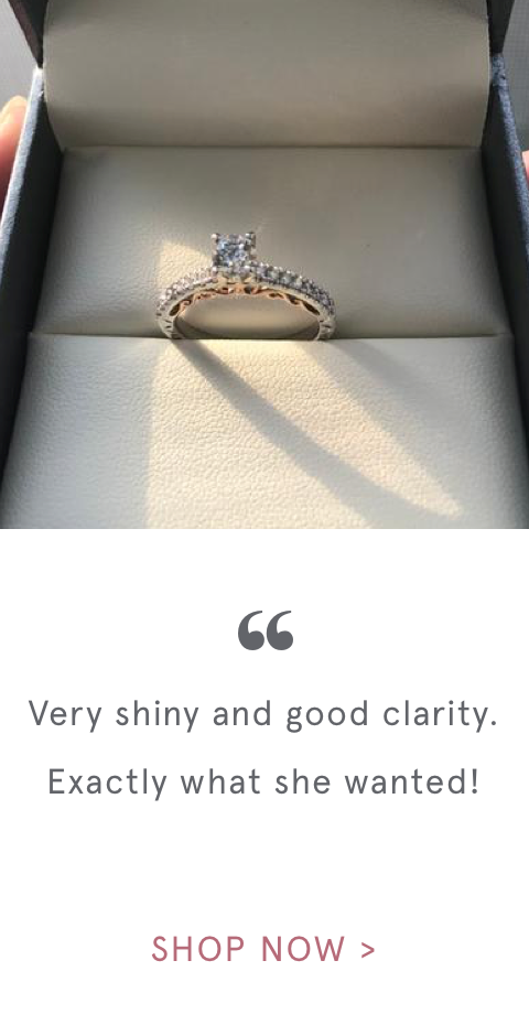 """ Very shiny and good clarity. Exactly what she wanted! 