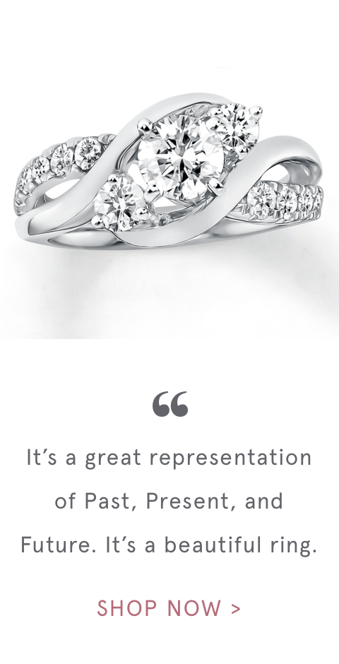 """ It's a great representation of Past, Present, and Future. It's a beautiful ring. 