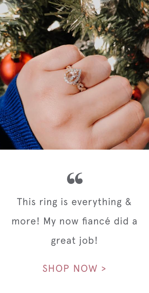 """ This ring is everything & more! My now fiancé did a great job! 