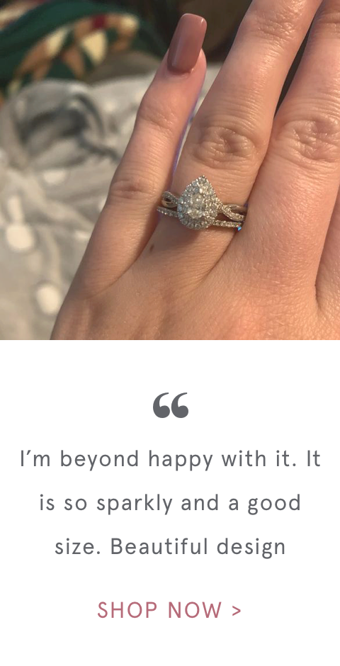 """ I'm beyond happy with it. It is so sparkly and a good size. Beautiful design 