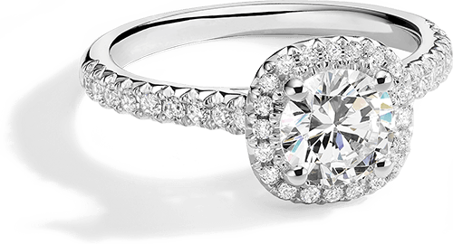 A KAY white gold lab-created diamond engagement ring