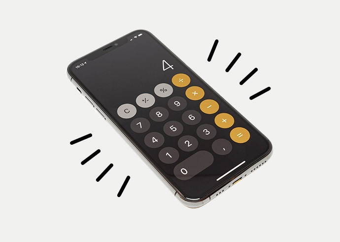 A basic calculator used to calculate expenses