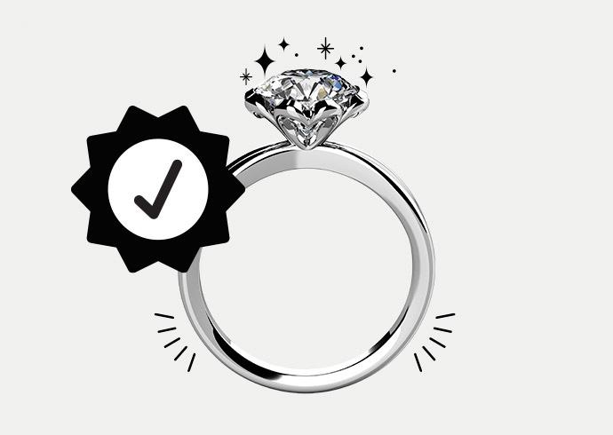 A KAY diamond engagement ring