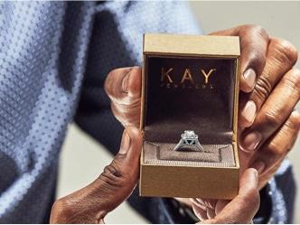 Diamond ring in a KAY box